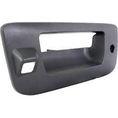 Fits 12-14 Silverado, Sierra 2500 3500 Text Tailgate Bezel w/Keyhole Rear Camera