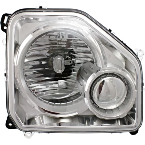 Fits 08-12 Jeep Liberty Left Driver Headlamp Assembly W/Chrome Bezel No Fog Lamp