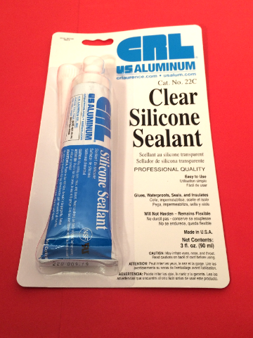 3 oz CRL Clear Silicone Adhesive, Sealant, Glue