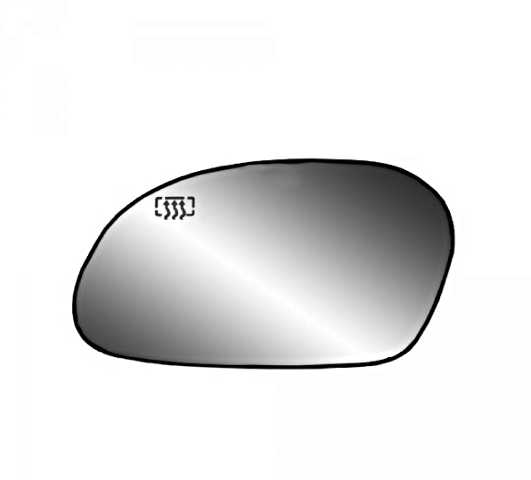 Fits 00-07 Taurus, Sable Left Driver Side Heated Mirror Glass  w/Rear Back Plate