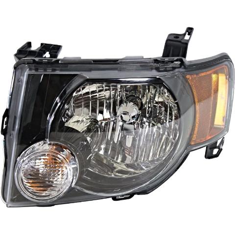 Fits 09-12  Escape & Escape Hybrid Left Driver Headlamp Assembly W/Dark Bezel