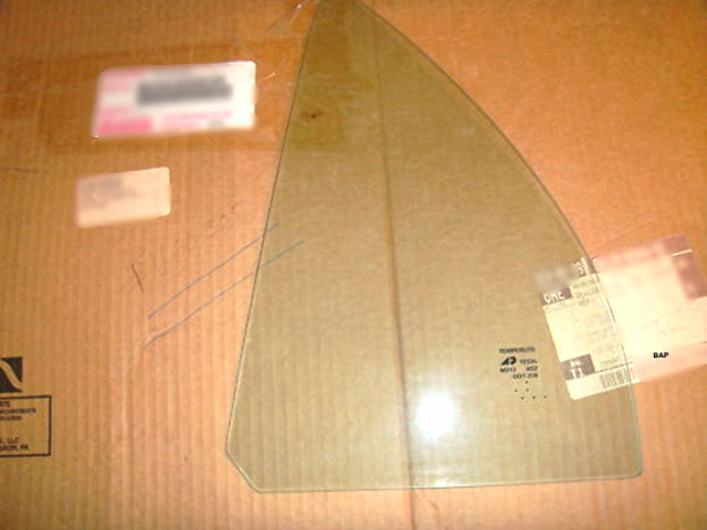 Fits 98-02 Toy Corolla, Chevy Prism Left Driver Side Rear Vent Triangle Window Glass