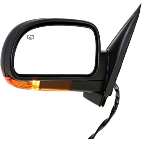 Fits 04-07 Envoy Trailblazer Left Driver Mirror W/Heat,Mem, Amber Signal,ManFold