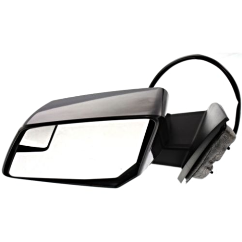 Fits 09-10  Outlook Left Driver Pwr Mirror W/Heat,Sig,Spotter,Manual Fold