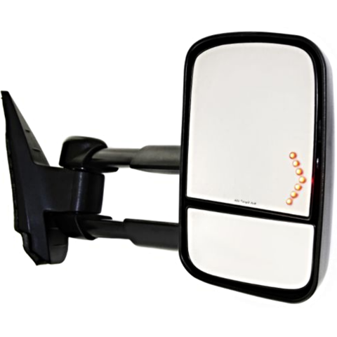 Fits 07-14 Silverado / Sierra Right Pass Tow Mirror w/Heat, Pwr, Sig, Man Tele