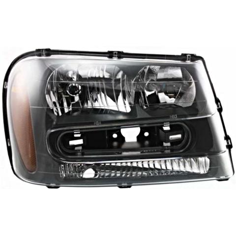 Fits 02-09 Chev Trailblazer 02-06 EXT W/full-width Grill Bar Right Pass Headlamp