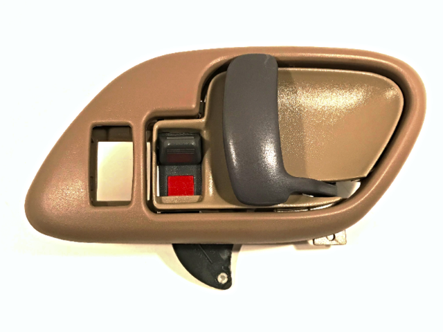 Left Inside Power Door Handle & Bezel Tan Front or Rear Fits GM Trucks, SUV