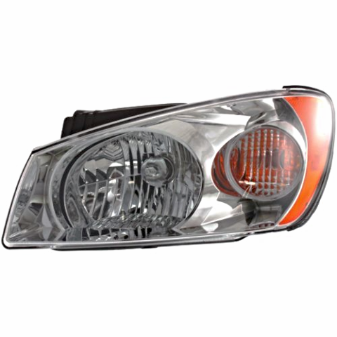 Fits 04-06 Kia Spectra LX Model Left Driver Headlamp Assembly With Chrome