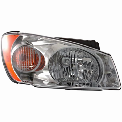 Fits 04-06 Kia Spectra LX Model Right Passenger Headlamp Assembly With Chrome