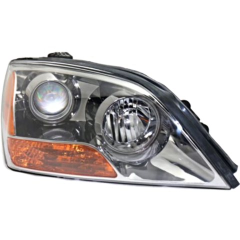 Fits 07-08 Up to Prod 4/21/08 Kia Sorento Right Pass Headlamp Assem W/Gray Bezel