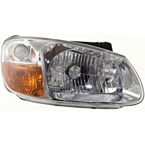 Fits 07-09 Kia Spectra, 07-09 Spectra5 Right Pass Headlamp Assem W/Chrome Bezel
