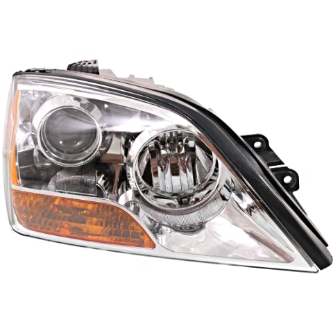 Fits 07-09  Sorento Right Passenger Headlight With Chrome Bezel
