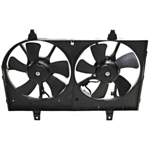 Fits 02-03 Maxima 02-04 Infiniti I35 Dual Cooling Fan Assembly