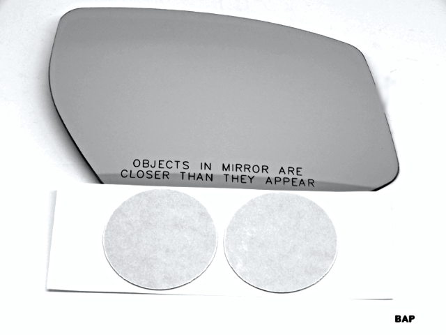 Fits 15-18 Nissan Maxima Right Pass Convex Mirror Glass Lens w/Silicone