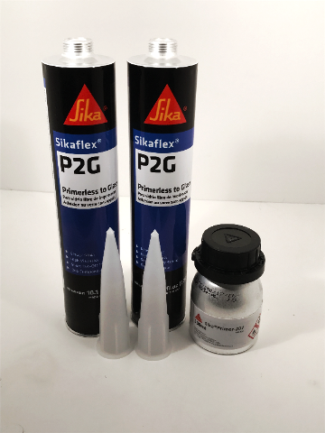 Auto Glass Urethane / Adhesive / Sealant  Primerless to Glass  2 Tubes Sika P2G & Primer