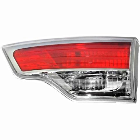 Inner Tailgate Mounted Back-Up Tail Light Assemblies Left & Right for 14-16 Toyota Highlander