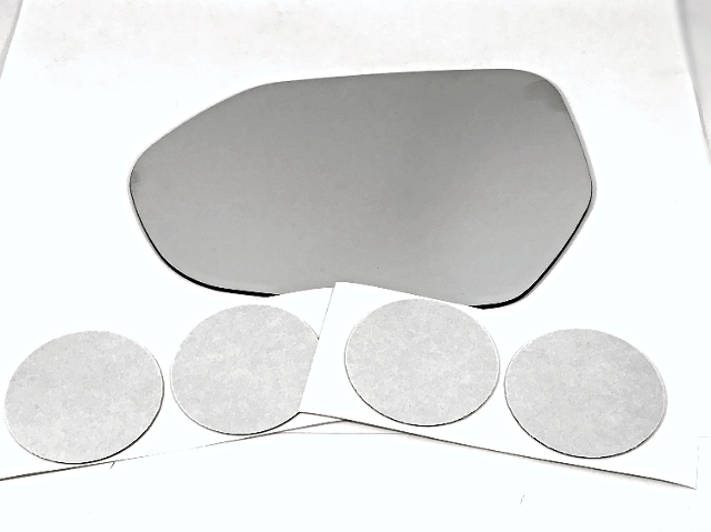 Fits 16-18 Prius, 2018- Camry Left Driver Mirror Glass Lens  w/Silicone