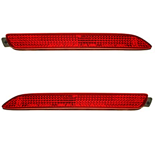 Left & Right Set Rear Reflectors Fits Toyota Avalon, Matrix, Sienna, Venza
