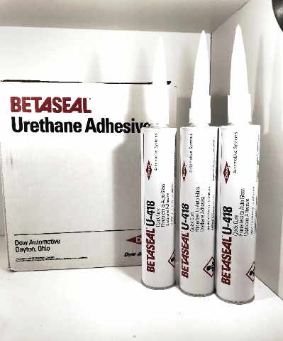 U-418 Dow Betaseal Auto Glass Primerless Urethane / Sealant / Adhesive (3) Tubes