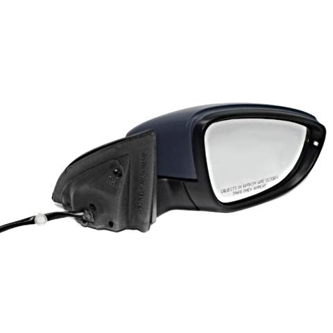 Fits 09-12 VW Passatt CC Rt Pass Pwr Mirror W/Ht, Sgnl, Memry, Pud Lamp Man Fold