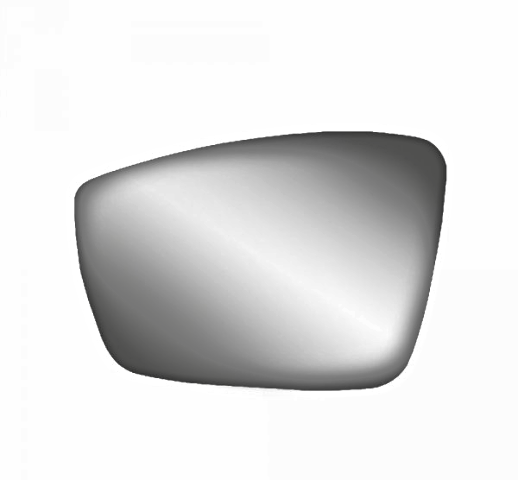 Left Driver Heated Mirror Glass w/Rear Back Plate for 12-17 Vw Passat 12-18 Beetle