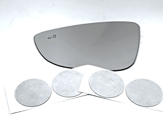 Fits 12-18 VW Beetle Left Driver  Mirror Glass Lens w/ Blind Spot Detection Icon