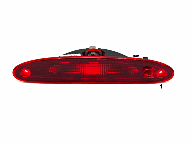 Fits 01-07 Caravan, Grand Caravan, Town Country Rear 3rd Brake Light w/Bulb