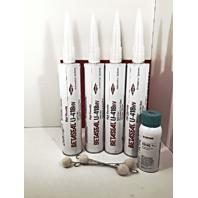 4x Dow U-418HV Auto Glass Primerless Urethane Adhesive & 5504G Pinchweld Primer