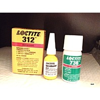Adhesive Glue Loctite 2 part Kit Speedbonder #312 bonds, glass, metal, plastic