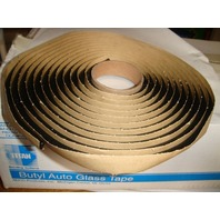 "Auto Glass Seal / Adhesive / Butyl Tape 10' Roll Soft Seal 1/4"" round"