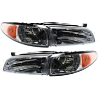 Fits 97-03 Pont Grand Prix Left Driver & Right Passenger Headlamp Assemblies-set