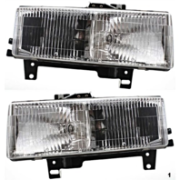 Fits 96-02 Chevy Express & GMC Savana Left & Right Composite Headlamp  (pair)