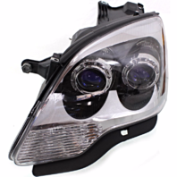 Fits 07-08 GM Aa Left Driver Halogen Headlamp Assembly With Blue Lens