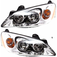 Fits 05-10 Pont. G6 Left & Right Headlamp Assemblies w/amber signal - pair