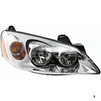 Fits 05-10 Pont. G6 Right Passenger Headlamp Assembly w/amber signal