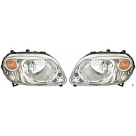 Fits 06-11 Chevy HHR Left & Right Headlamp Assemblies w/clear lens (pair)