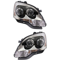 Fits 08-12 GM Aa Left & Right Halogen Headlamp Assem W/Clear Lens - Pair