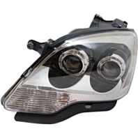 Fits 08-12 GM Aa Left Driver Halogen Headlamp Assembly With CLear Lens