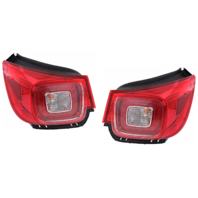 Fits 13-16 Chevrolet Malibu Left & Right Set Tail Lamp Assemblies w/Led Quarter Mounted