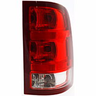 Fits 07-13 GMC Sierra 1500  / 07-14 GMC Sierra 2500, 3500  Right Pass Tail Lamp Assm w/Red Border W/Single Wheel Exc Denali
