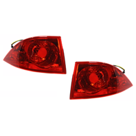 Fits 06-11 Buick Lucerne Left & Right Set Tail Lamp Assemblies Quarter Mounted