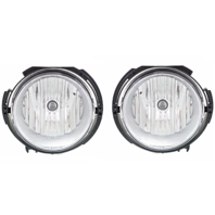 Fits 06-11 Chevy HHR (except SS) L&R Fog Lamps w/clear lens w/out bulb shield