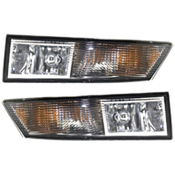 Fits 07-14 Cadillac Escalade & ESV 07-13 EXT Left & Right Fog Lamp Assym (pair)