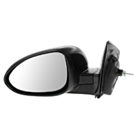 Fits 12-17  Sonic Left Driver Mirror Power Unpainted Black With Heat