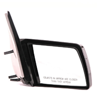 Fits 88-99  GM C/K Pickup Right Pass Mirror Manual Unpainted Non-Fold