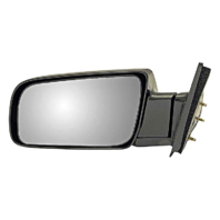 Fits 88-99  GM C/K Pickup Left Driver Mirror Manual Unpainted Fold
