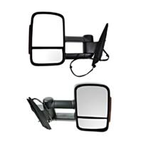 Fits 07-14 Silverado Suburban Avalanche Manual Mirror ManTelescope Set L+R W/Sig