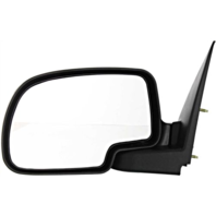 Fits 99-07 Silverado / Sierra Left Driver Manual Mirror Manual Folding Textured