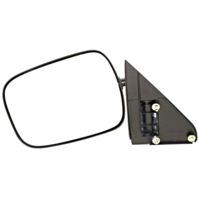 Fits 88-00  GM C / K Pickup Left Driver Mirror Manual Unpainted Black