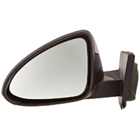 Fits 13-15 Chev Spark Left Driver Mirror Power Unpainted Black No Heat Or Signal
